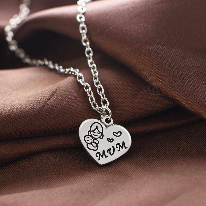 12 шт., ожерелья для мам, мам, держат ребенка, сердце, подвески с шармами, ожерелья, семья, мама, подарки на день благодарения, ювелирные изделия
