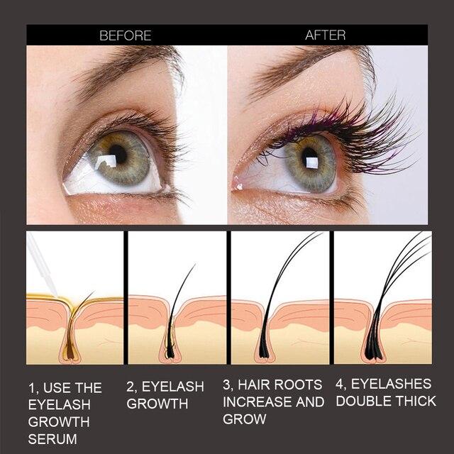 O.TWO.O Eyelash Growth Serum Moisturizing Eyelash Nourishing Essence For Eyelashes Enhancer Lengthening Thicker 3ml 1