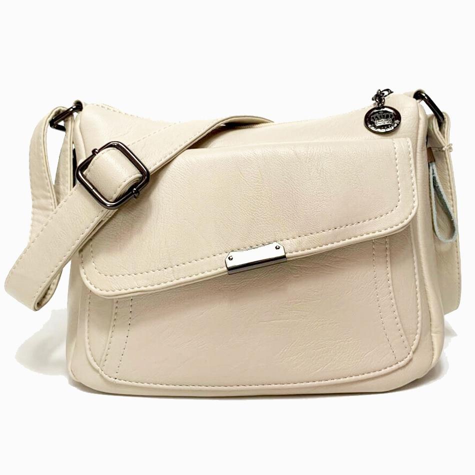 Winter Style 2019 Bolsas Soft Leather Luxury handbags Women bags Designer Multi-pocket Crossbody Shoulder Bags For Women Sac