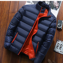 Cool Men Casual Solid color Tops Down jacket 2020 New Autumn Winter Fas