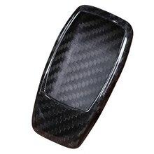 Real fibra de carbono chave do carro escudo capa guarnição para mercedes benz w222 s classe e w213 c-classe w205 glc x253