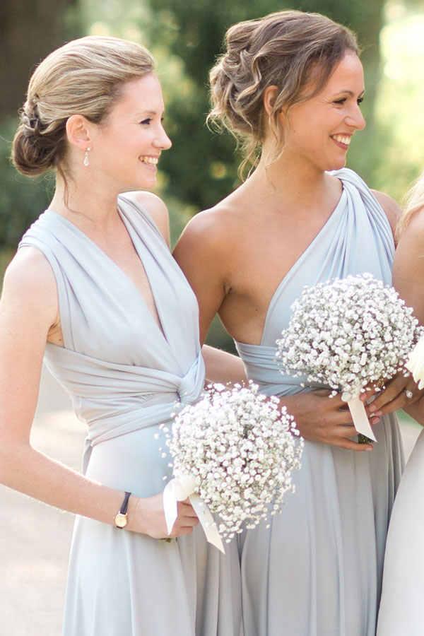 18 ألوان متعددة يرتدي طرق Covertible وصيفه الشرف فساتين الطابق طول البلاد الشاطئ الزفاف رداء حفلات فستان حفلة موسيقية طويل