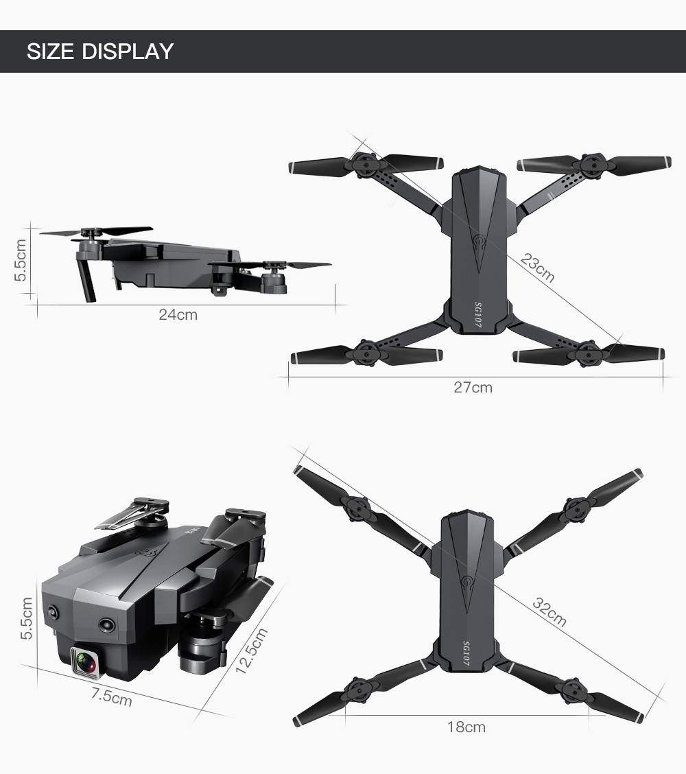 Hab8bf066b3994724baa3366e58d1ec48J - Mini SG107 Drone 4k Double Camera HD XT6 WIFI FPV Drone Air Pressure Fixed Height four-axis Aircraft RC Helicopter With Camera