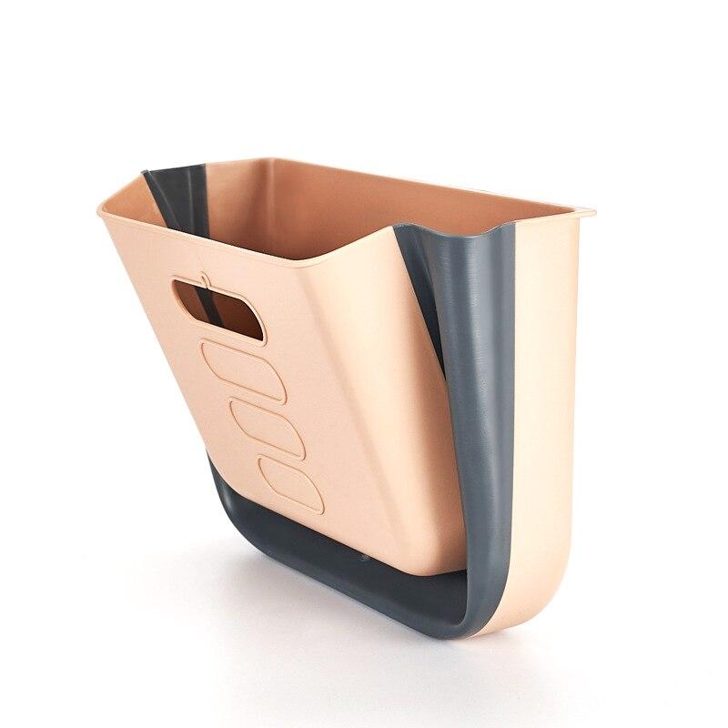 Trash Can Kitchen Wall Mounted Folding Garbage Bin Rubbish Container Box Foldable Waste Bins Waste Bins     - title=
