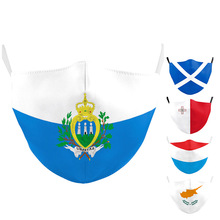 Face-Mask Malta Washable FILTER Flag Marino Print Adult with Luxembourg San Cyprus Kids