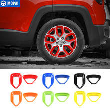 MOPAI ABS Car Wheel Hub Cover Decoration Cover Frame ABS Stickers for Jeep Renegade 2015 2017 Exterior Accessories Car Styling