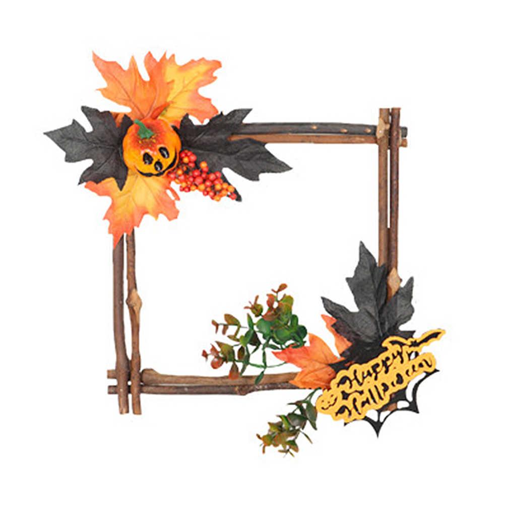 1 шт. подвесной орнамент квадратной формы Хэллоуин Тыква Праздничная дверь настенное светодиодное освещение вечерние подвесные кулон в виде домика