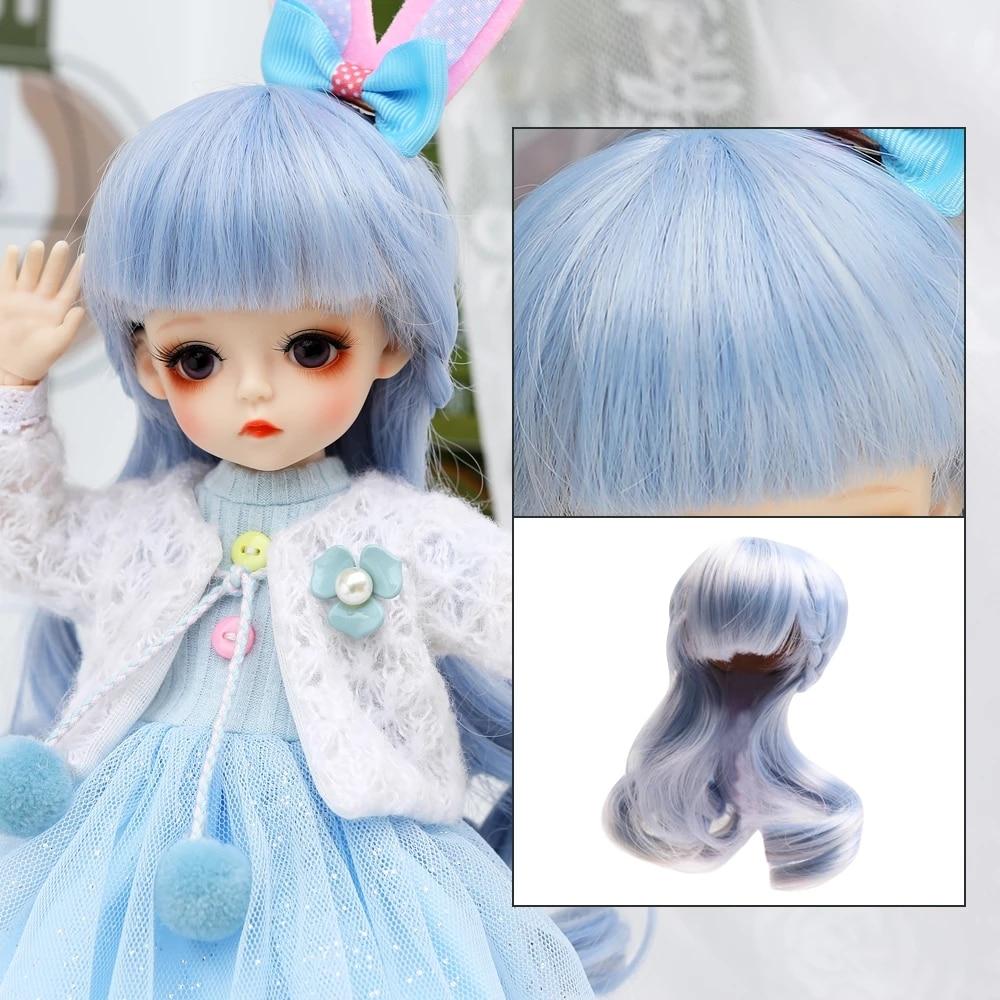 1/6 BJD Dolls Accessories Wig Hair For 30CM BJD Doll Girls Boys Hair For DIY Dress UP Girl Toys Accessories