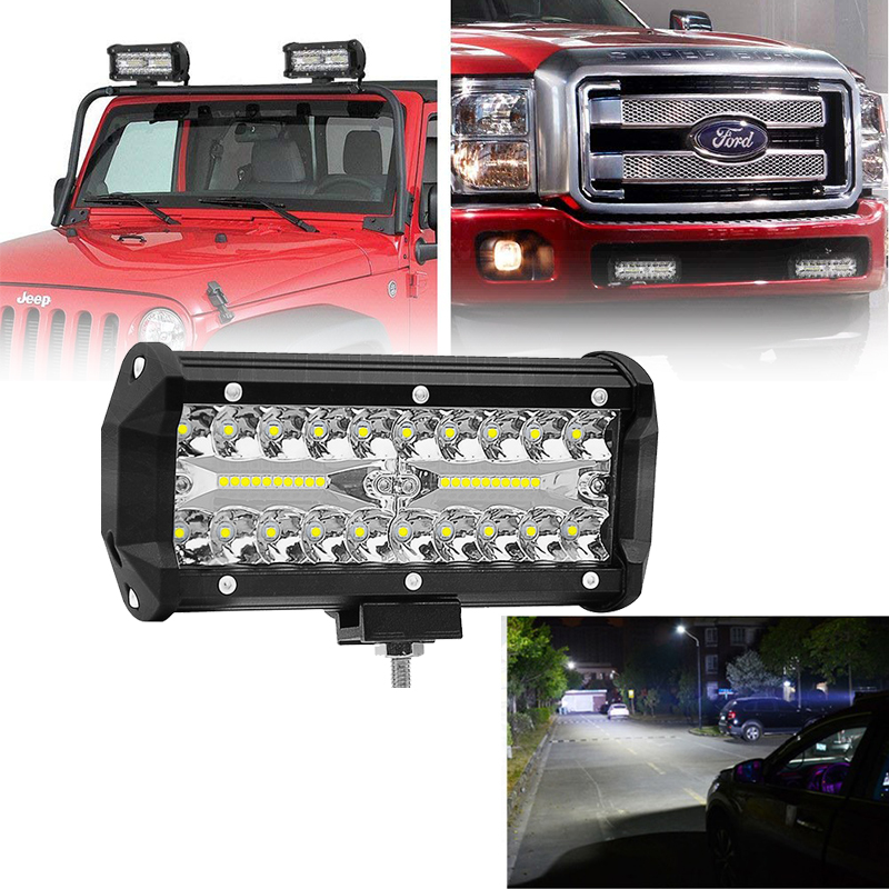 2Pcs 7inch 120w LED Work Light Bar Combo Beam Car Driving Light For Off Road Truck 4WD 4x4 Motorcycle Ramp 12V 24V Auto Fog Lamp