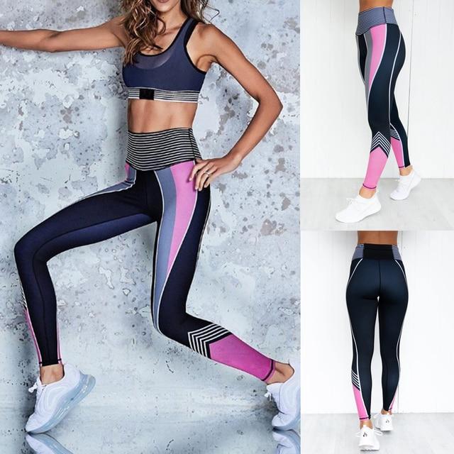 Ladies Workout High Waist Colorful Leggings 2