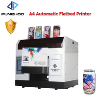 Flatbed Acrylic Digital Inkjet Phone Case A4 Size UV Printer 6 Colors CMYK+WW