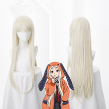 Anime Kakegurui Yomozuki Runa Cosplay Wig Heat Resistant Synthetic Hair wig(China)