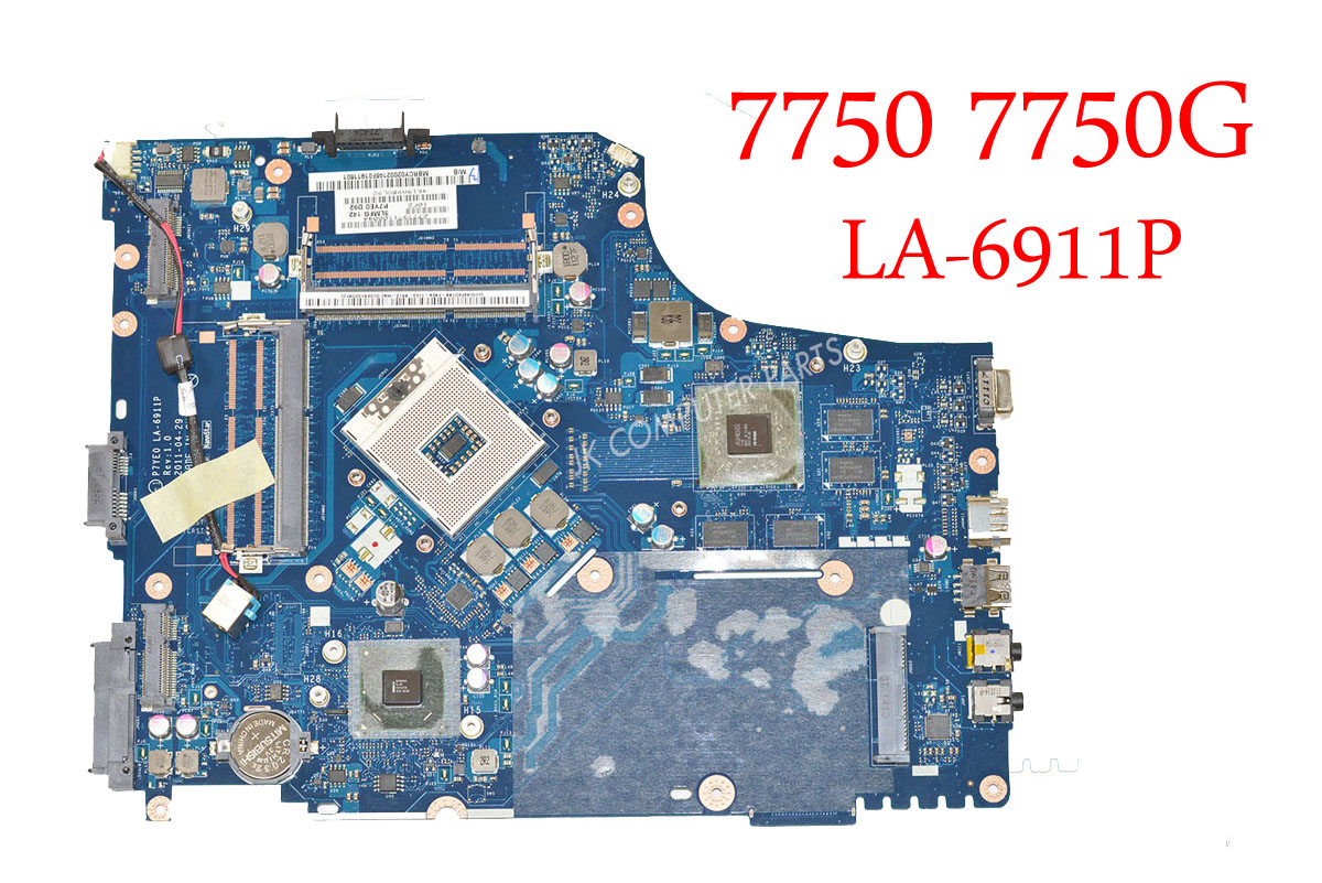 Laptop <font><b>motherboard</b></font> For <font><b>acer</b></font> <font><b>7750</b></font> 7750G HM65 P7YE0 LA-6911P REV 1.0 non-integrated graphics card 100% fully tested image