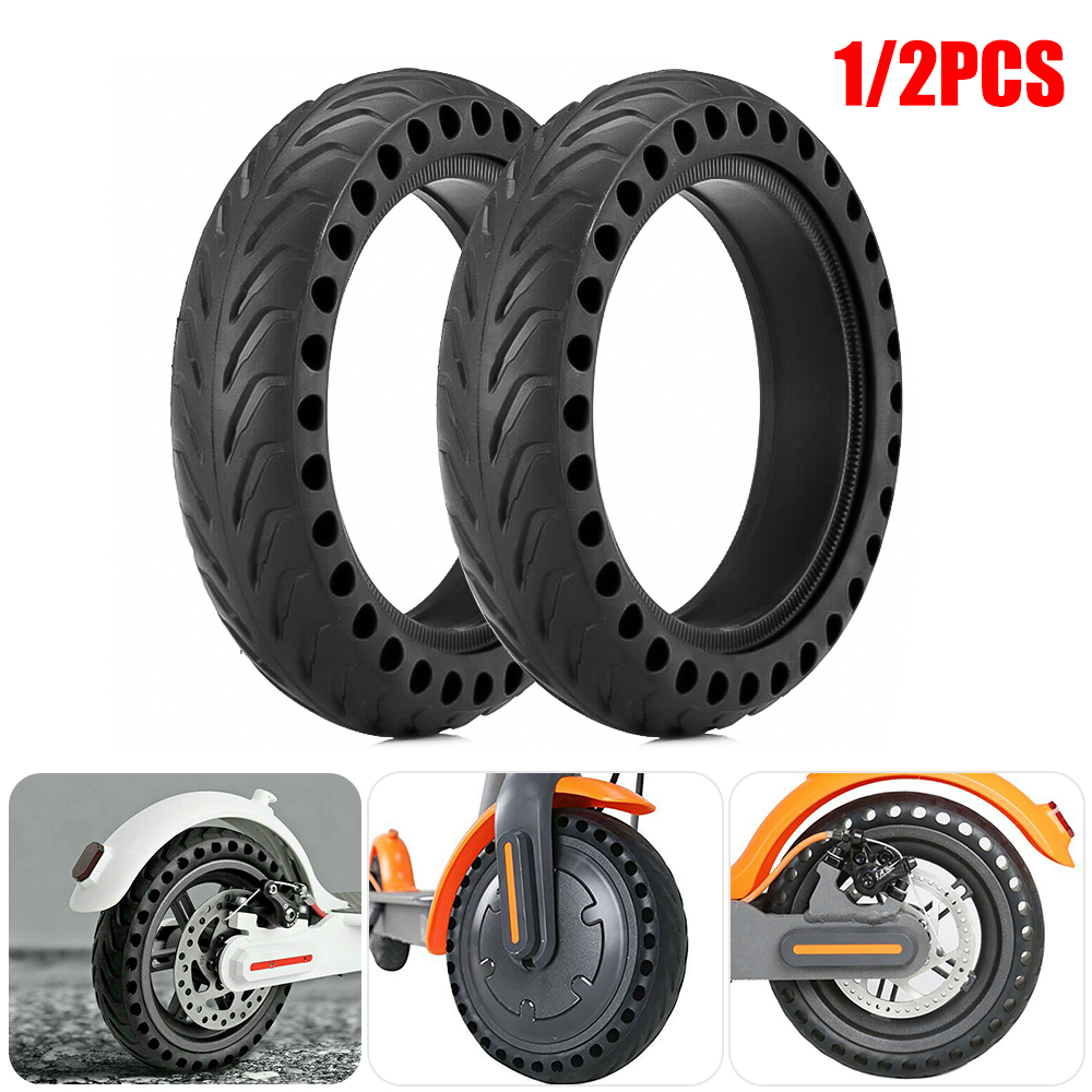 SFIT Durable Tire For Mijia M365 Scooter Tyre Solid Hole Tires Shock Absorber Non-Pneumatic Tyre Damping Rubber Tyres Wheel