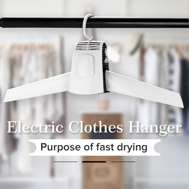 110V-220V Electric Clothes Hanger Portable Drying Cloth Machine Rack Home Indoor Dorms Dryer Shoes Clothes Hot Cold Rack 1