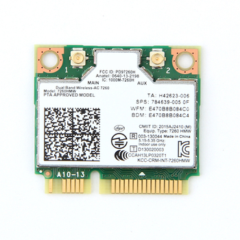 Dwuzakresowy bezprzewodowy zasilacz AC1200 z 7260AC 7260HMW karta MINI PCI-E 2 4G 5G Wifi + bluetooth 4 0 dla Dell Sony ACER ASUS tanie i dobre opinie fenvi 867 mbps CN (pochodzenie) Wewnętrzny wireless ETHERNET Laptop 802 11a g 802 11n 802 11ac Pci express 2 4G i 5G 1200 mbps
