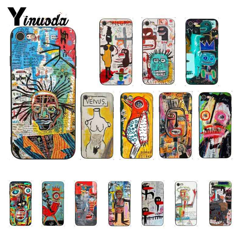 Yinuoda Jean Michel Basquiat Art Graffiti чехол для смартфона iPhone 8 7 6 6S 6Plus X XS MAX 5 5S SE XR 10 чехол 11 pro max