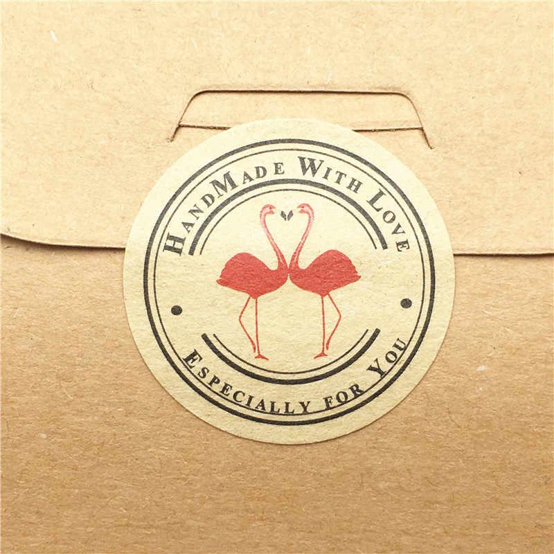 100 قطعة/الوحدة متعدد نمط التسمية ملصقا 3 سنتيمتر ختم التسمية ملصقا ل كعكة الخبز/اليدوية هدية/الغذاء/آلة تعبئة الهدايا ختم تسميات