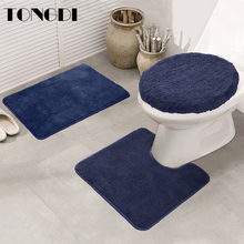 TONGDI Bathroom Carpet Toilet Seat Cushion Mats Soft Shower Absorbent Suede TPE Material Non-slip Sop Rug Decoration ForBathroom