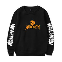 2020 halloween sweatshirt pumpkin prints o neck women/men long
