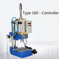 220V Multifunction Pneumatic Punch Lettering Perforation Portable Press Desktop Single Post Pedal Cylinder Type Machining Center