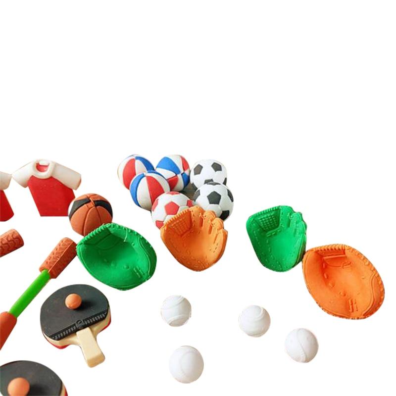 6 штук в партии спортивный клуб резиновый ластик Футбольная форма ластик футбол школьные канцелярские принадлежности ластик