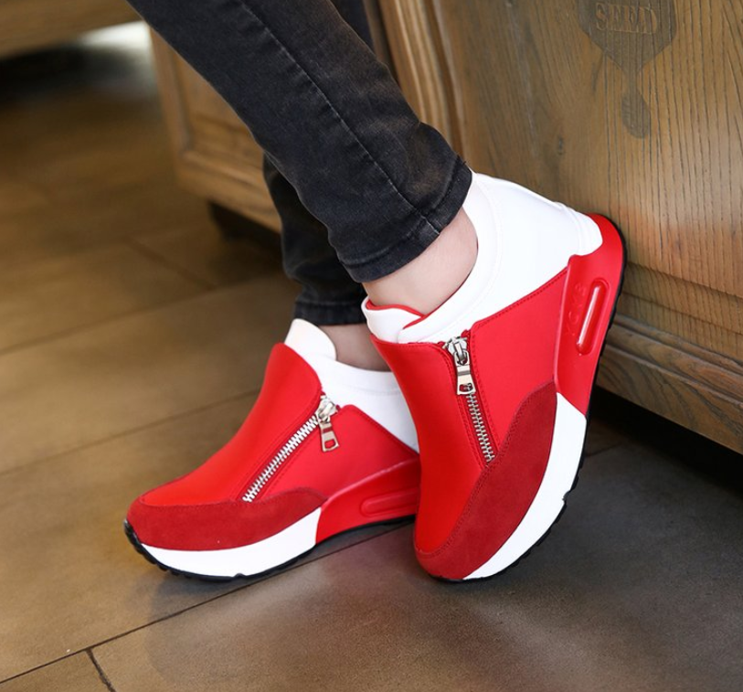 Comfortable Hot Sale New Women Casual Shoes Height Increasing Breathable Women Sneakers Flats Trainers Shoes