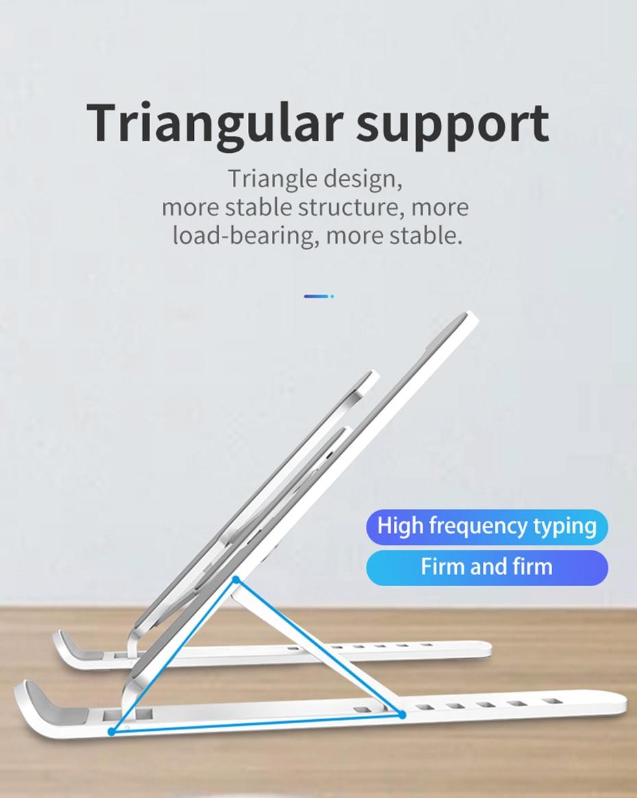 Support ordinateur portable ou tablette pliable et réglable