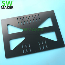 SWMAKER 200x300mm heated bed support Aluminum composit Extended Y Carriage Plate for Prusa i3