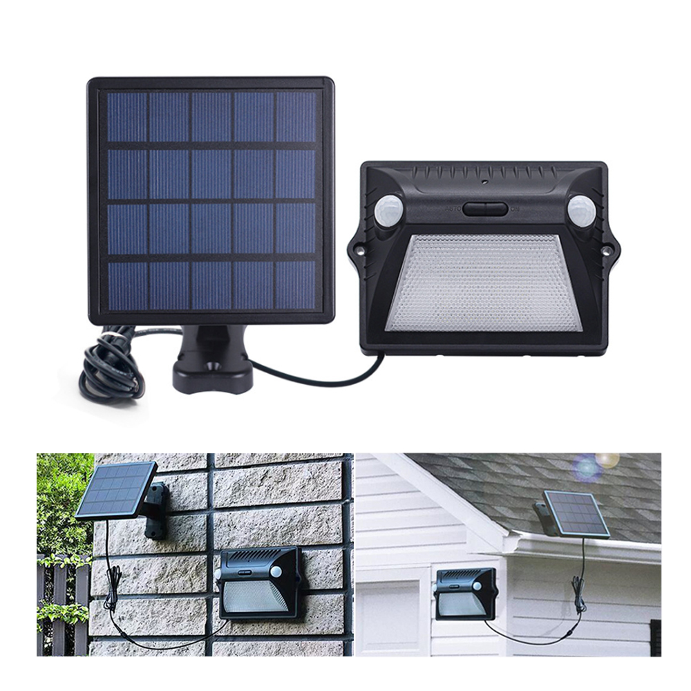 Outdoor Solar Lights PIR Motion Sensor LED Wall Lamp Double PIR Inductor 7 Colorful 3 Modes Split Security Solar Garden Light