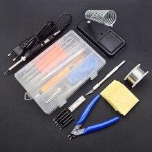 Electric-Soldering-Iron Rework-Tips Temperature Home-Repair-Tools Adjustable LCD 110V/220V