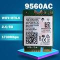 Wi-Fi-карта для Intel Dual Band AC 9560 9560NGW 9560AC 0T0HRM 1,73 Гбит/с NGFF Key E 80211ac BT5.0 мм: 959982 для W10