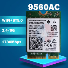 Wi-Fi-карта для Intel Dual Band AC 9560 9560NGW 9560AC 0T0HRM 1,73 Гбит/с NGFF Key E 80211ac BT5.0 мм: 959982 для W10