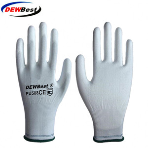 Image 4 - 12Pairs DEWBest Working Protective Gloves Men&women Flexible Blue Polyester Nylon Safety Work Gloves f9