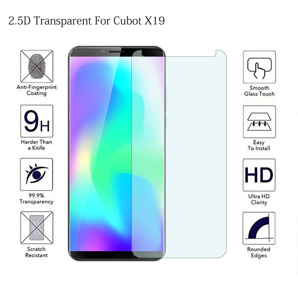Tempered Glass Case For Cubot X19 X18 Plus Anti Glare Screen Protector For Cubot P20 Power J3 H3 R11 Toughened Protective Flim(China)