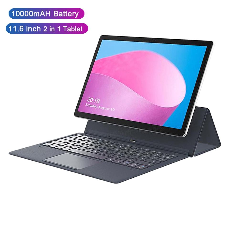 4G netbook tablette ordinateur portable 11.6 pouces tablette android 2 en 1 tablette pc mt6797 10 cœurs avec clavier tablette d'affaires 10000mAH gps