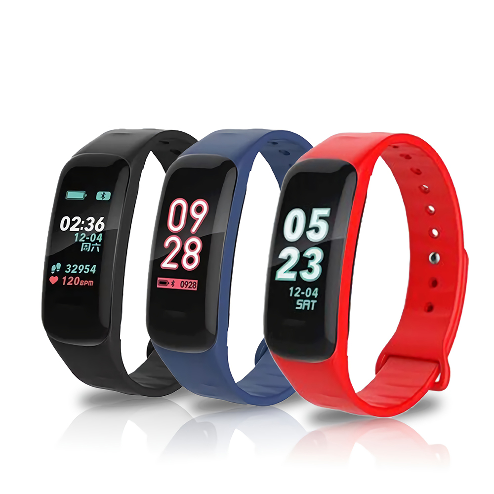 C1P Bluetooth Smartwatch Sport Fitness <font><b>Smart</b></font> <font><b>Watch</b></font> Men <font><b>Women</b></font> Intelligent Bracelet <font><b>Watches</b></font> for iPhone Android IOS PK <font><b>Mi</b></font> Band image