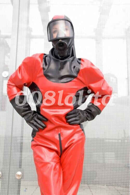 Latex Pak Rubber Cool Panty Bodysuit Firefighter Hot Koop Catsuit Maat S-XXL