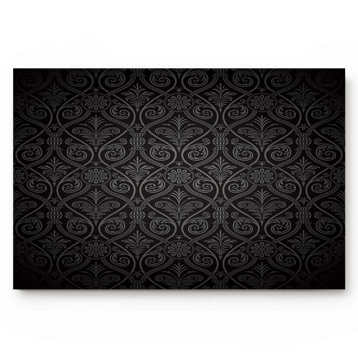 Floral Pattern Black Texture Wallpaper Pattern Frame Texture