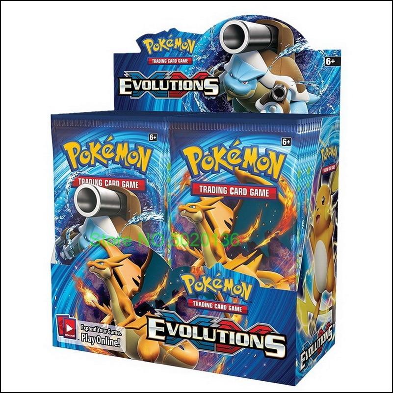 Cartões de pokemones tcg: caixa selada do impulsionador das evoluções xy