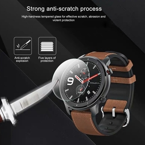 Image 3 - OLLIVAN Glass For Amazfit GTR 47 Tempered Glass For Xiaomi Amazfit GTR 47MM 42MM Screen Protector Full Edge Cover 2.5D Glass