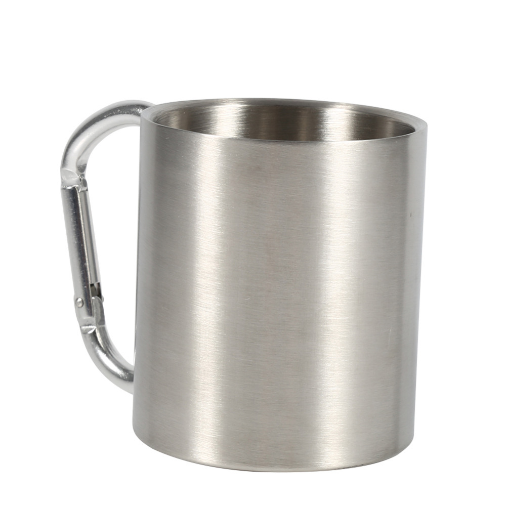 Mugs Stainless Steel Travel Camping Outdoor Sports Cup Coffee Milk Tea Cups Wonderful Unique Gifts with Handle Portable Mug