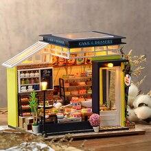 Набор для кукольного домика «сделай сам», деревянный маленький миниатюрный дом для взрослых, для выпечки, торта, детских игрушек, кукольный ...
