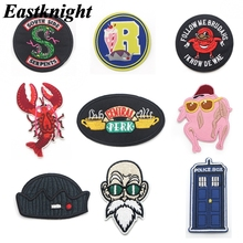 K1570 Office tv show Sticker for Clothing Applications Patches on Clothes Iron Embroidered Patch for Backpack Badge 1pcs zotoone anatomical heart stripe badge embroidery patches for backpack stickers on clothes clothing iron on tactical patches diy
