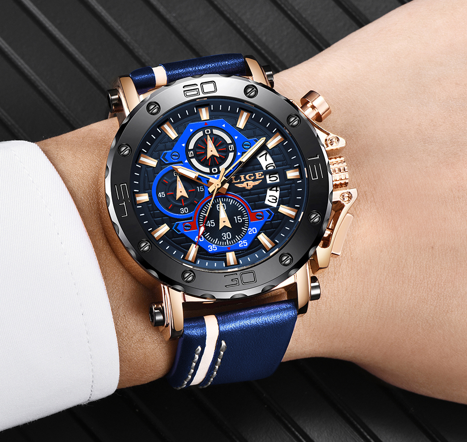 Hab8f3054a3da4346962e83494274a26fO - LIGE New Mens Watches Top Brand Luxury Big Dial Military Quartz Watch Leather Waterproof Sport Wristwatch Relogio Masculino
