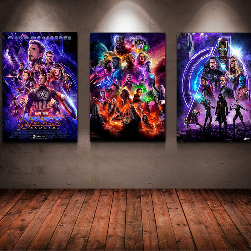 2019 New Avenger Alliance 4 Silk Poster Manwei Characters Bedroom Decorative Painting Marvel movie Wall Pictures for Living Room in Painting Calligraphy from Home Garden