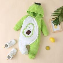 Милая одежда для маленьких девочек с изображением авокадо однобортный