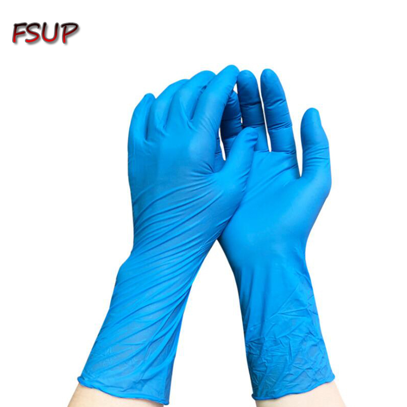 6PC Thickness And Lenghen Disposable Nitrile Gloves Work Glove Food Prep Cooking Gloves / Kitchen Food Service Cleaning Gloves