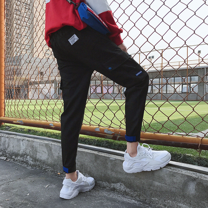 Bib Overall Men Spring Summer 2019 New Style Loose Casual Ankle Banded Pants Popular Brand Capri Pants Sub-Men's Korean-style Tr