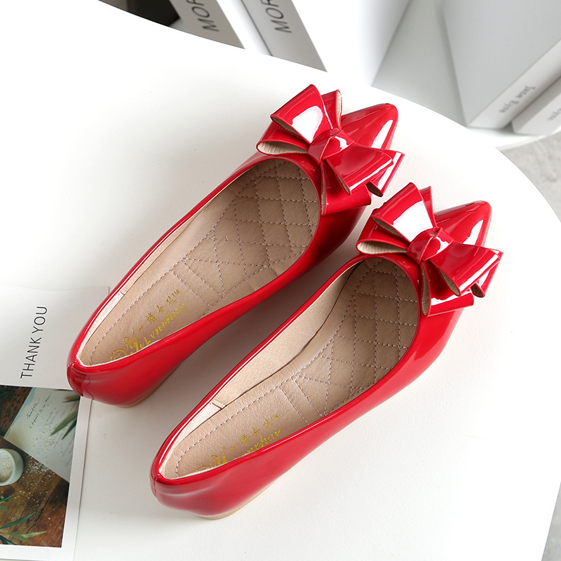 Korean-style Pointed-Toe 33 Yards WOMEN'S Shoes New Style Shallow Mouth Single Shoes Flat Heel Women's Flat Large Size WOMEN'S S